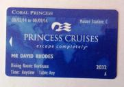 Coral Princess Card